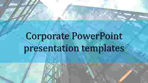 A one noded corporate powerpoint presentation templates