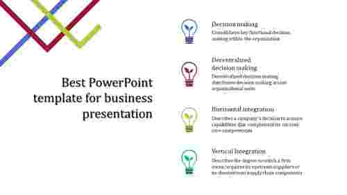 A four noded best powerpoint template for business presentation