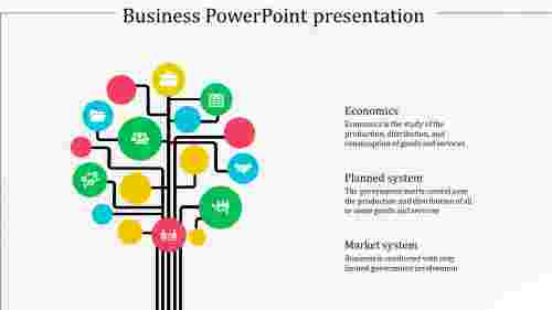 A three noded business powerpoint presentation