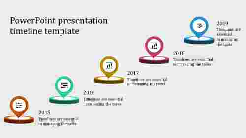 Powerpoint Presentation Timeline Template - Diagonal model