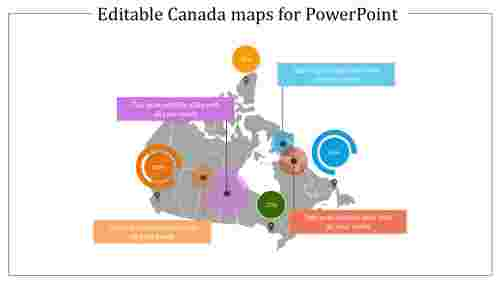 Editable Canada maps for PowerPoint