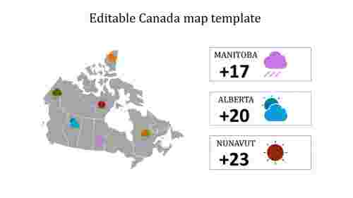 Editable Canada map template