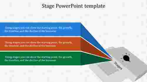 A three noded Stage PowerPoint template