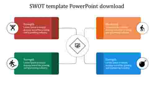 SWOT template powerpoint creative  download