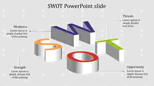 Admirable SWOT powerpoint slide