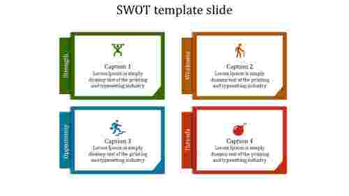 SWOT template slide - Frame model