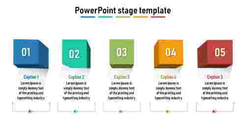 A five noded powerpoint stage template