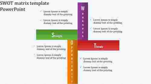 Simple SWOT matrix template PowerPoint