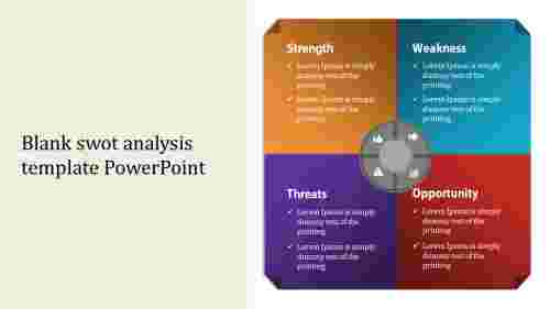 Primary blank swot analysis template powerpoint