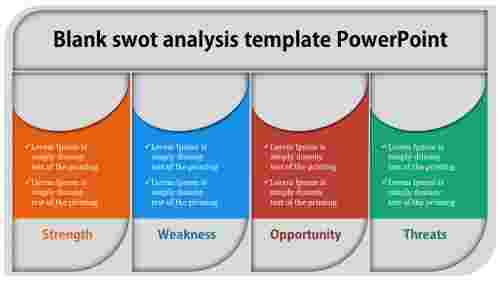 Vertical blank SWOT analysis template powerpoint
