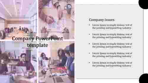 Portfolio company PowerPoint template
