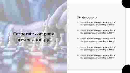 Strategy corporate company presentation PPT