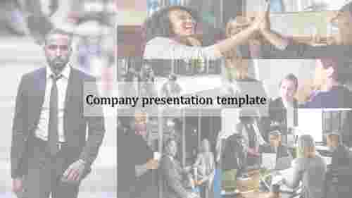 Portfolio company presentation template