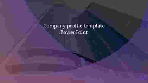 Basic company profile template PowerPoint