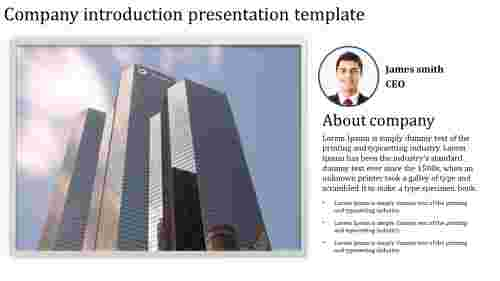 Company introduction presentation template profile