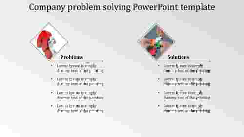 Company problem solving PowerPoint template