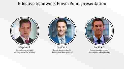 Effective teamwork powerpoint presentation - circle shape