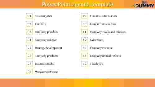 Company PowerPoint agenda template