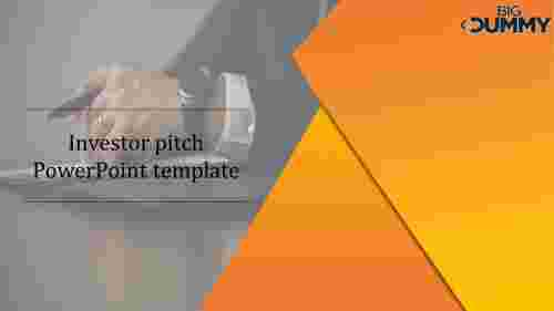 Investor pitch PowerPoint template slide