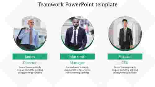 Management teamwork powerpoint template