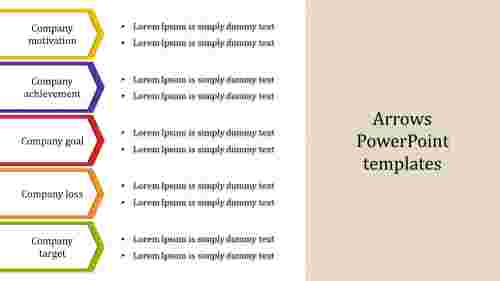 Arrows PowerPoint templates for business