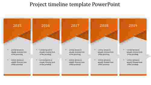Project timeline template PowerPoint for company