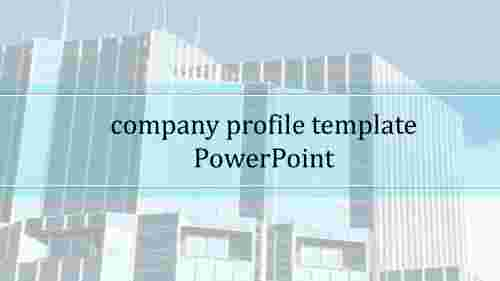 Simple company profile template PowerPoint