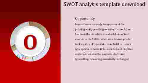 Opportunity SWOT analysis template download
