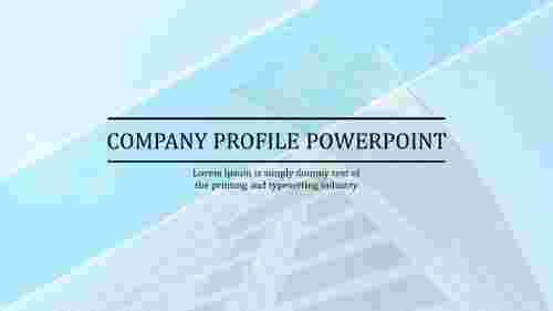 Create company profile PowerPoint