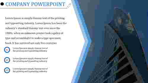 About company PowerPoint