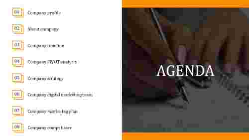 Management PowerPoint agenda template