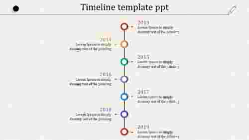 Easy timeline template PPT