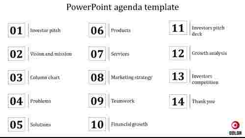 Easy powerpoint agenda template