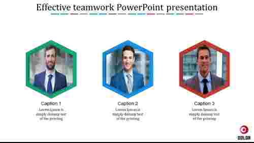 effective teamwork PowerPoint presentation-Hexagonal shape