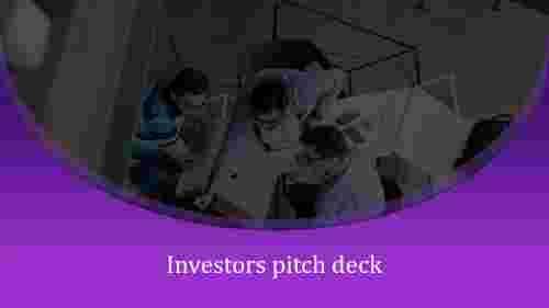 Curved shape investor pitch deck PPT