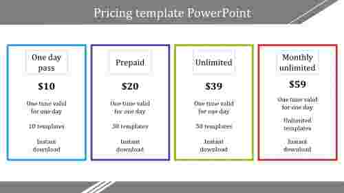 pricingtemplatepowerpointforbusiness