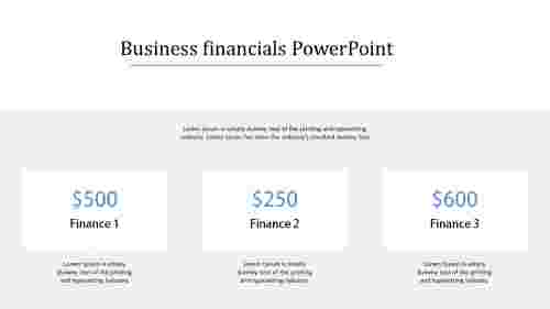 finance powerpoint PPT template
