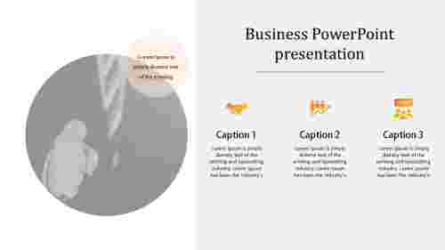 business powerpoint presentation - circle model