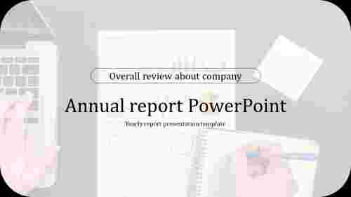 Company annual report PowerPoint presentation