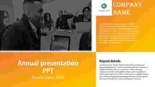 annual report presentation PPT template
