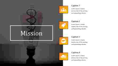 Corporate mission vision PPT template
