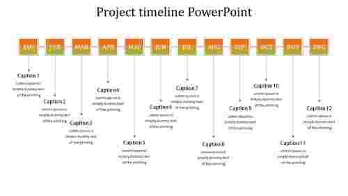 Yearly project timeline powerpoint