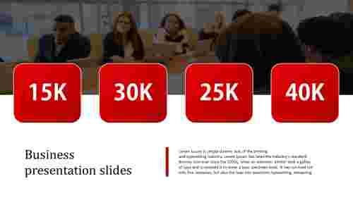 business presentation slides - square model