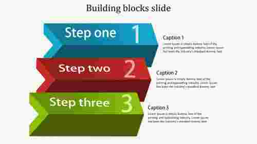 building blocks slide - arrow model