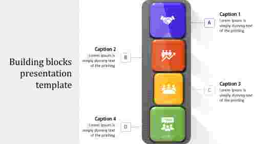 Simple building blocks presentation template