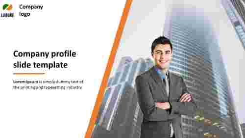 company profile slide template - Title slide