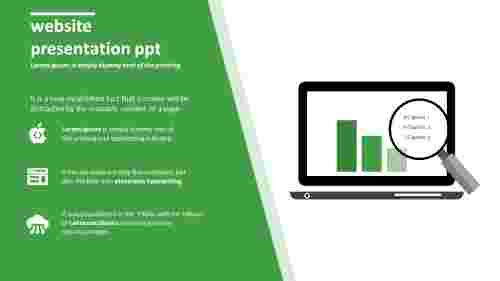 Development of website presentation PPT