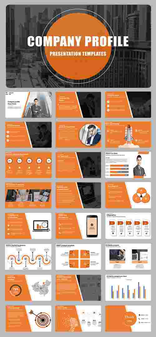 Awesome company profile powerpoint sample