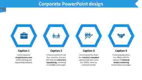 corporate powerpoint design - Hexagonal model