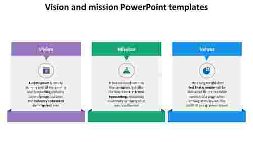 vision and mission powerpoint templates - rectangle model